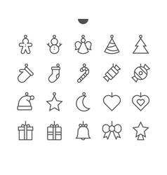 toys on the christmas tree ui pixel perfect well vector image