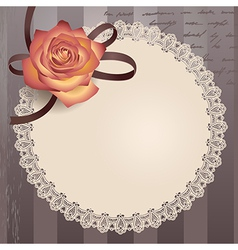 vintage lace round vector image