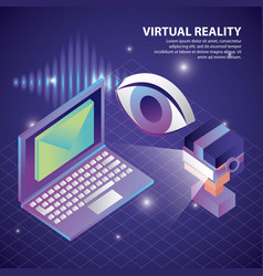 Virtual reality isometric vector