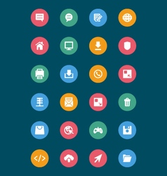 Web and Mobile Icons 3 vector image