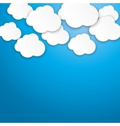 white paper clouds background vector image