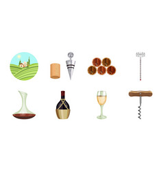 wine products icons in set collection for design vector image