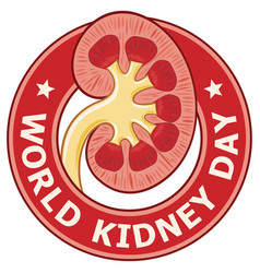 world kidney day label vector image