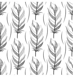 black contoured wide feather pattern vector image vector image