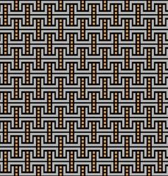 Dark geometric maze seamless pattern vector image