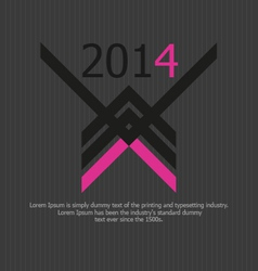 clean dark 2014 background vector image vector image