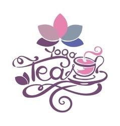 Lettering - Yoga Tea vector image vector image