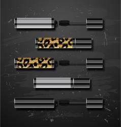Mascara decorative cosmetics make up accessories vector image vector image