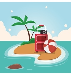 Summer and paradisiac island design vector image vector image