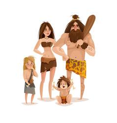 caveman family design concept vector image