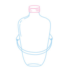 Color line long mason jar with wire handle design vector