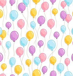 Colorful balloons pattern vector image