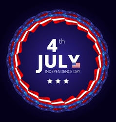 frame to the Independence day of 4th july vector image vector image