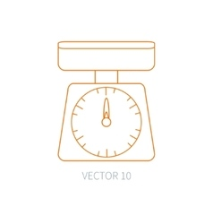 Line flat kitchenware icons - kitchen vector image vector image