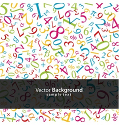 math background vector image vector image