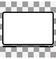 notebook Computer Icon a transparent vector image vector image