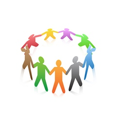 people around a circle vector image vector image