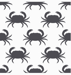 crab silhouette seamless pattern vector image vector image