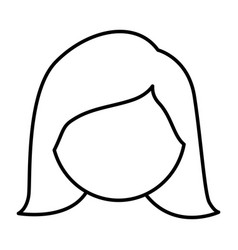 figure face woman icon vector image