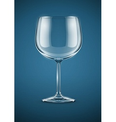 glass goblet for wine drink vector image