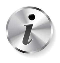 information sign info square metal symbol vector image