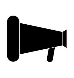 Loud speaker or megaphone the black color icon vector