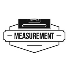 measurement level logo simple black style vector image vector image