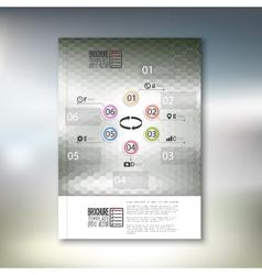 Abstract hexagonal infographic pattern brochure vector