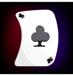 Ace of clubs playing card icon cartoon style vector