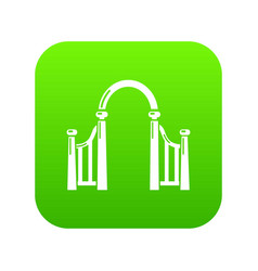 Archway metal icon green vector