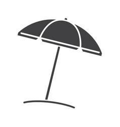 beach umbrella glyph icon vector image