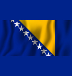 bosnia and herzegovina realistic waving flag vector image