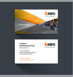 business card template with colourful vector image