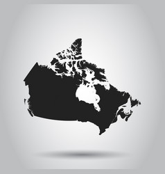 Canada map icon flat canada sign symbol with vector