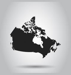 Canada map icon flat sign symbol vector