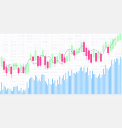 candlestick chart for market presentation report vector image
