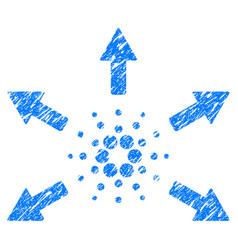 Cardano spend arrows icon grunge watermark vector