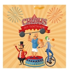 Cartoons of circus festival vector