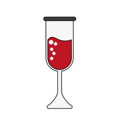 champagne glass cup vector image