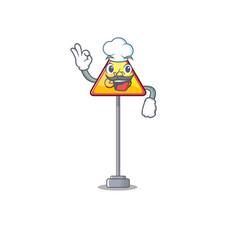 Chef no cycling character shaped a mascot vector
