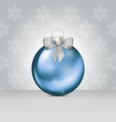 Christmas ball silver vector image