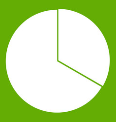 circle chart infographic icon green vector image