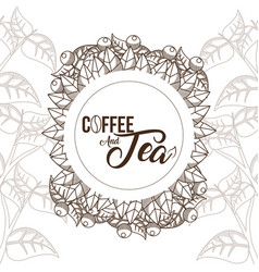 Coffee and tea concept vector