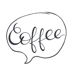 Coffee stylized lettering vector