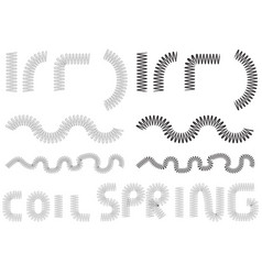 Coil spring metal coil springs set vector