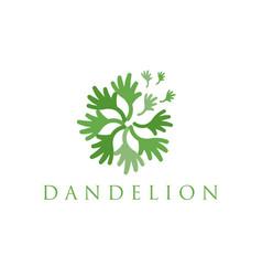 Concept logo dandelion vector
