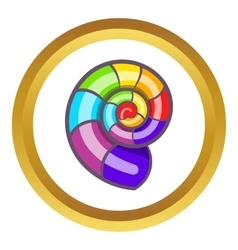 Curl in colours of LGBT icon vector