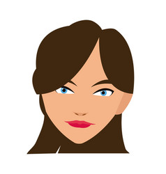 cute face woman female hairstyle beautiful vector image