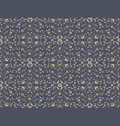 Damask seamless pattern background luxury vector