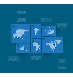earth continents vector image